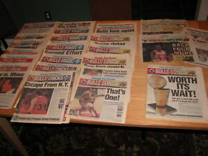 1996 Chicago Bulls Playoffs Complete Newspaper Set. Sun Times. 23 Items. + Extra