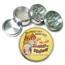 "Vintage Poster D173 Aluminum Herb Grinder 2.5"" 63mm 4 Piece Zombies On Broadway"