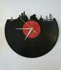 Handmade Unique San Francisco Skyline Record Vinyl Clock 12'' Wall Clock Home