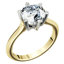 Natural Diamond Solitaire Engagement GIA Certified Ring 1.00 Ct Round Cut 18k