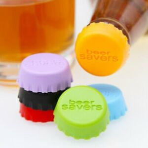 Set of 6 PCS Silicone Bottle Cap Cover Lid Stopper Wine Glass Beer Saver Capsule