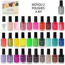 Moyou Nails set of 2 Stamping Nail Polishes, Nail Art polish Fast Dry Varnish