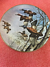Bs8 vintage Danbury Mint Misty Morning David Maass Ducks Taking Flight 1988