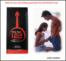 Why Not 12 Cream For Man Increase Size Enhancement Fast Growth (2 Pack X 60 gm)