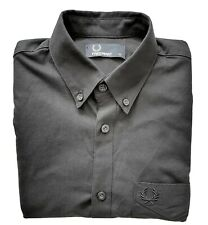 Fred Perry Smart Casual Mens Shirt, XS, Black, Long Sleeve, Immaculate cond.