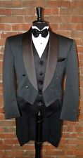 MENS 56 L CHARCOAL GREY WOOL SHAWL TAILS TUXEDO JACKET FULL DRESS  by  LORD WEST