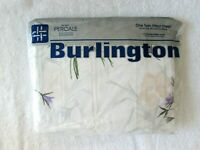 Vintage Twin Fitted Sheet Burlington 39 x 75 in. Floral Daffodil No-Iron New