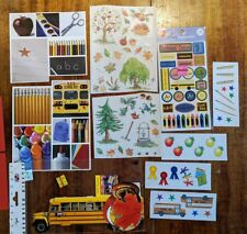 Lot of School Autumn Fall stickers die cuts for Scrapbook Card Making