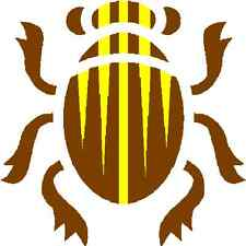 30 Custom Brown Scarab Personalized Address Labels