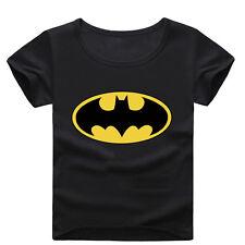 Kids Baby Boys Batman Superman Spiderman T-shirts Superhero Top Shirts age 2-7Y