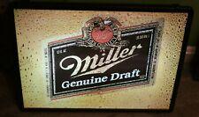 Vintage Miller Genuine Draft Beer Football Lighted Bar Pub Sign 1980's Fast Shp