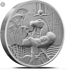 SOBEK 2oz SILVER ULTRA HIGH RELIEF ROUND EGYPTIAN GODS SERIES COIN 999 ALLIGATOR