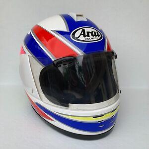Arai Regent Snell Street Motorcycle Helmet- Pink/Blue/White