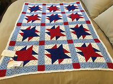 Handmade Afghan / Throw Blanket - Designer Collection - July Fireworks