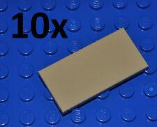 LEGO PARTS- 10X TAN FLAT TILES 2X4 STUDS/BEIGE/SAND SMOOTH FLOOR BUILDING PIECES