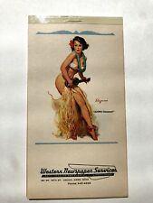 February 1969 Pin Up Girl Picture Appointment / Notebook by Elvgren Hula Girl