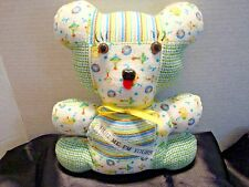 "Stuffed Handmade Baby Theme 8"" Flannel Teddy Bear Toy – ""Hug Me I'm Yours"""
