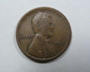 USA United States of America Lincoln One Cent 1911 D Denver SCARCE