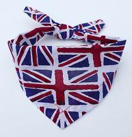Patriotic Dog Bandana / Puppy Scarf / Union Jack bandana / UK Flag dog gift