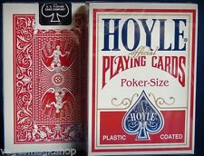 Hoyle Standard Red Deck Playing Cards Poker Size USPCC Plastic Coated New Sealed