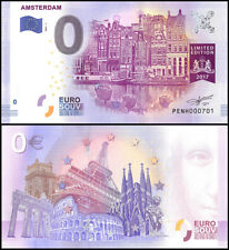 Zero (0) Euro Europe, 2017 - 1 (1st Print),UNC, Amsterdam,Netherlands Limited Ed