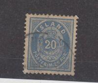 Iceland 1882 20 Aur Mi14Ba VFU JK1998