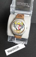 Swatch YGS124 Bump Brown - Prototyp - Nie in offizieller Kollektion lanciert