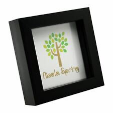Black 4x4 Deep Box Photo Picture Frame - Standing & Hanging