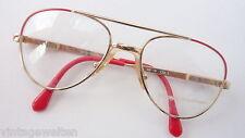 Pilotenbrille für Kinder/Kids gold rot Federscharniere stabil Vintage-neu