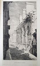 Pierre Marcel ROY gravure eau forte etching La rue Molé à Troyes