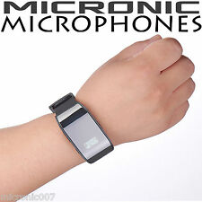 8GB DIGITAL VOICE RECORDER WATCH WEARABLE SOUND ACTIVATED DICTAPHONE MP3 AUDIO