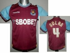 2011-12 FC West Ham United Nolan #4 Jersey Home Football Shirt youth size - 10