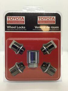Genuine Toyota Avalon Camry RAV4 Sienna Black Chrome Wheel Lock Set PK456-00J00