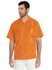 Men's Cuban Beach Wedding Casual Short Sleeve Guayabera Dress Shirt