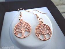 Rose Gold Tree Of Life Pendant Earrings Lovely Gift