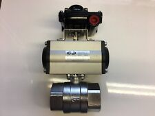 "Pneumatic Actuated Ball Valve 2"" BSP + Switch Box Indicator."