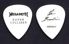 Megadeth Chris Broderick Signature White Guitar Pick - 2013 Super Collider Tour