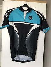 Men's Cycle Jersey - Mad Dogg Athletics - Large - Made In Italy - Black And Blue