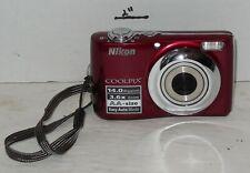 Nikon COOLPIX L24 14.0MP 3'' SCREEN 3.6X Digital Camera RED