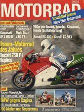 Motorrad 7/85 1985 Suzuki RG400 TS80X Gamma Moto Guzzi V 65 TT Ducati 750 F1 Rep