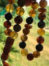 Baltic Amber Pressed 33 Islamic Prayer Beads 12mm Rosary Misbaha Muslim 1q
