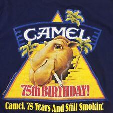 CAMEL Cigarettes 1988 75th Birthday Blue Logo On Back M Medium T-Shirt