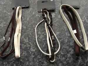 Pack 2 or 3 hair bandeaux brown cream headband elastic hairband sport band