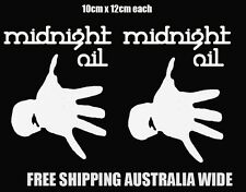 midnight oil stickers x2 car ute tickets mancave drift hoon toolbox