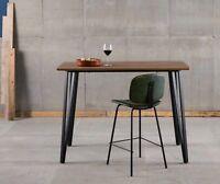 Bar Tisch 140x100x70 Bartisch Barmöbel Eiche Dekor + Stahlgestell Schwarz
