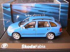 SKODA FABIA COMBI 1.4 16V VALVES BLUE LASER ABREX 143AB004LB 1/43 BLAU BLEU