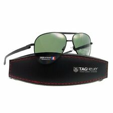 e8a44baa0 TAG Heuer Automatic 0881 301 58mm Aviator Sunglasses in Black Green Outdoor  Lens
