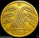 Germany German Weimar Republic 1926A 5 Reichspfennig Coin