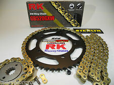 YAMAHA YZF R1 '09-14 RK GOLD 520GXW X-RING QUICK ACCEL CHAIN AND SPROCKETS KIT