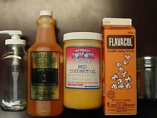 Popcorn Popping Kit Coconut Oil, Buttery Topping & Disp, Popcorn Salt & Shaker